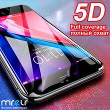 5D Gehard Glas voor iPhone 7 6 6 s Plus Screen Protector X XR XS Max 8 7 Plus Cover beschermende Glas Voor iPhone XR 7 Plus 6 s X