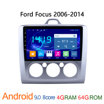 4G + 64G IPS android car radio for Ford Focus 2 2006-2014 autoradio GPS navigator DVD multimedia coche audio auto stereo carplay image