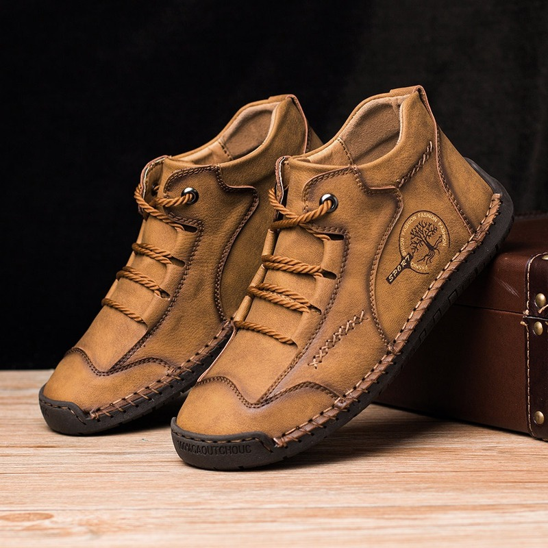 Winter Shoes Snow-Boots Platform Handmade Outdoor Men Autumn Top-Quality title=