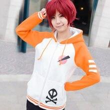 Anime hitman renascer cosplay hoodies com zíper casaco sawada tsunayoshi engrossar camisola de algodão traje