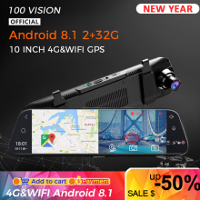 4g 1080p carro dvr android 8.1 10