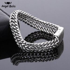 Pulseira de prata da moda antiga, pulseira de buda de 11.5mm de largura, para mulheres, bracelete diy, presentes de joia
