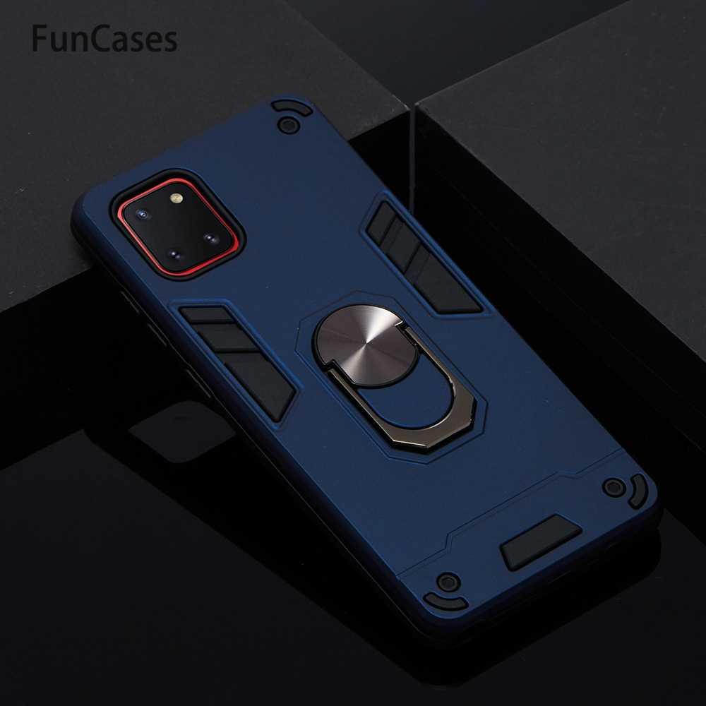 Soporte magnético de lujo para coche, Protector de PC duro para armadura Samsung A81 Coques Samsung Galaxy Phone M60S Note 10 Lite, fundas de lujo