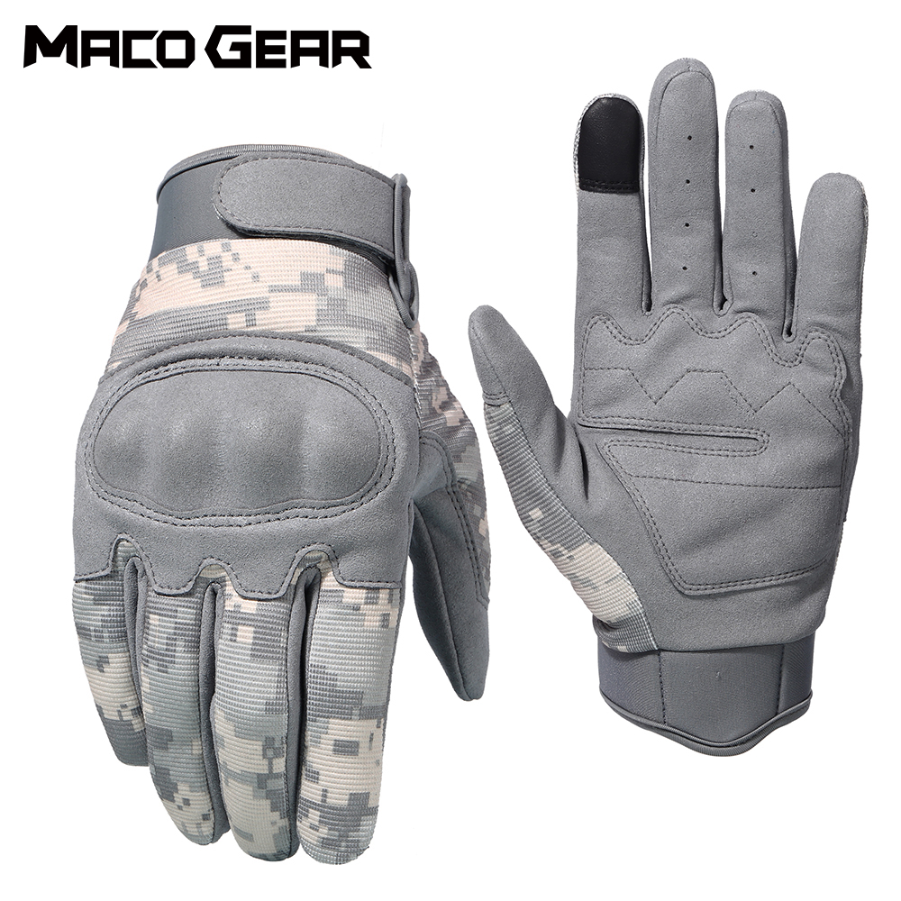Leather Tactical Hunting Full Finger Gloves Combat Shooting Military Army Warm