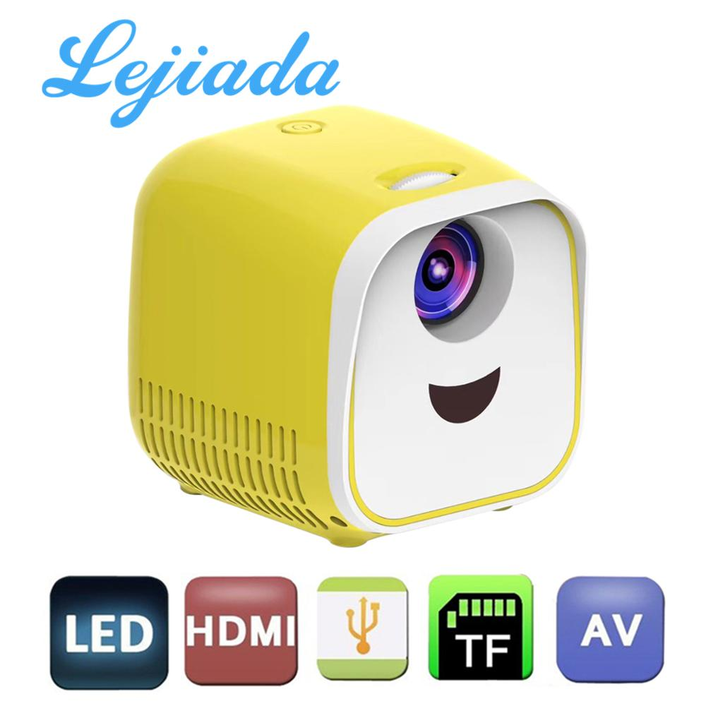 LEJIADA L1 Portable Mini Projector 1000 lumen Support 1080p Full HD Movie Playback Projector Home Theater Entertainment Device|  - title=