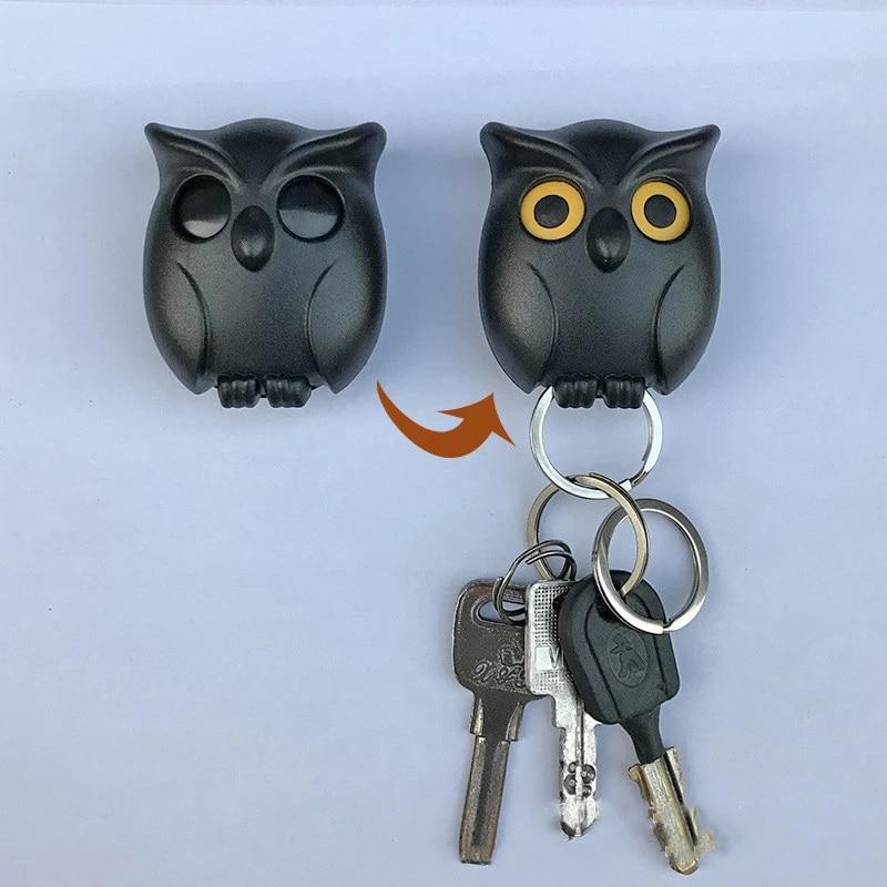 1pcs Night Owl Black White Brown Magnetic Wall Key Holder Magnets Keep Keychains Key Hanger Hook Hanging Key It Will Open Eyes Hooks Rails Aliexpress