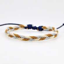 24 Style Handmade Brown Woven Rope Bracelet Women Men Adjust