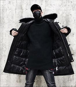 Image 5 - Parka con capucha Hip Hop Camo grueso 2019 hombres