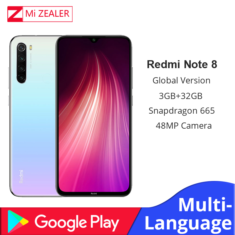 Global Version Xiaomi Redmi Note 8T Note 8 3GB RAM 32GB ROM Octa Core Smartphone Snapdragon 665 48MP Fast Charger Cellphone