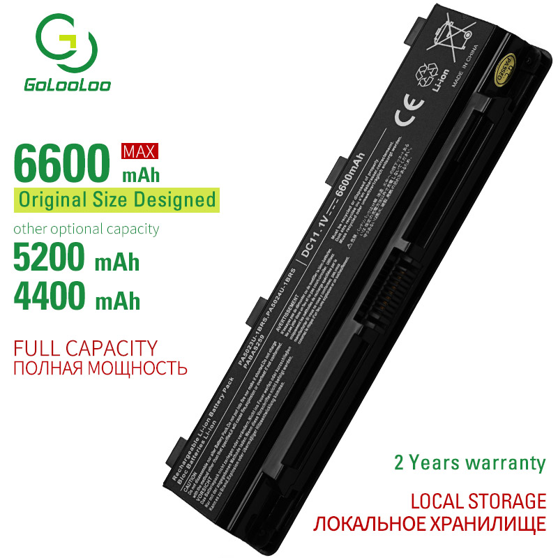 Golooloo 6 Cells Laptop Battery For Toshib PA5023U-1BRS PA5024U PA5025U PA5026U PABAS259 PABAS260 PABAS261 PABAS262