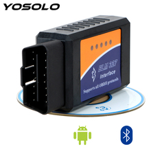 YOSOLO Bluetooth ELM327 OBDII Auto Diagnostic Tool EML327 V2.1 OBD2 Code Reader for Android OBD2 Car Diagnostic Tool Scanner top quality full chip for renault can clip v172 auto obd2 code reader scanner can clip diagnostic tool obdii for renault