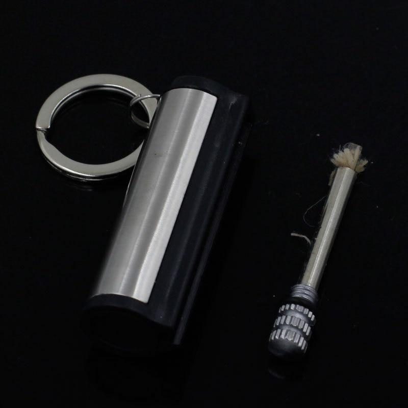 Ten Thousand Times Permanent Match Striker Lighters Keychain Creative Silver Stainless Steel Cigarette Lighter Keyring A780