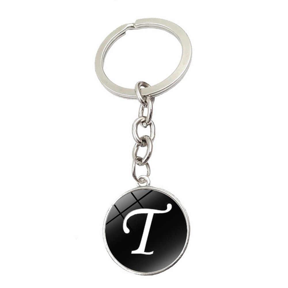 Llavero del alfabeto anillo 26 letras iniciales en inglés llaveros con nombre Cartera de coche bolsos accesorios para niñas mujeres hombres
