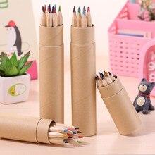 12 pièces/ensemble crayon Raindow crayon coloré peinture crayon différentes couleurs crayons en bois Art crayons pour école dessin bureau
