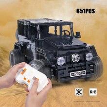 Técnicas fora de estrada veículo benz g650 bloco de construção 2.4ghz rádio controle remoto suv tijolos modelo rc carro brinquedos coleção