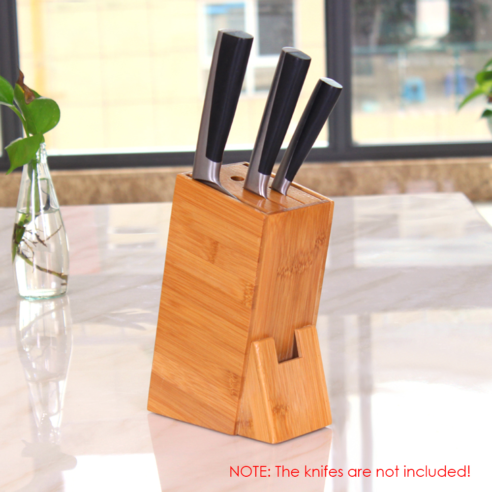 Kitchen Knife Tool  Holder Shelf Rack Storage Bamboo Knife Block Toolframe Cutting Tool Stand For Chef Knife Set