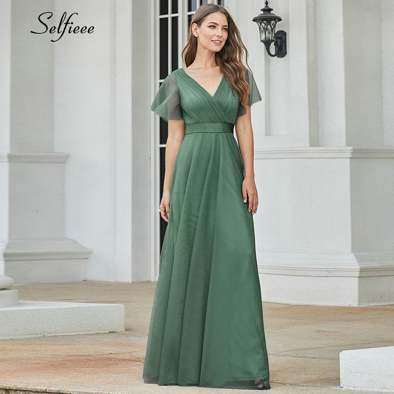 New Arrival Elegant Women Summer Dresses A-Line V-Neck Short Sleeve Solid Navy Blue Elegant Ladies Maxi Dresses 2019 Robe Femme