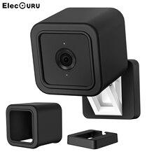 Silikon kamera kılıfı Wyze Cam V3, kapalı açık toz geçirmez koruyucu kılıf için Wyze Cam V3 aksesuarları, siyah
