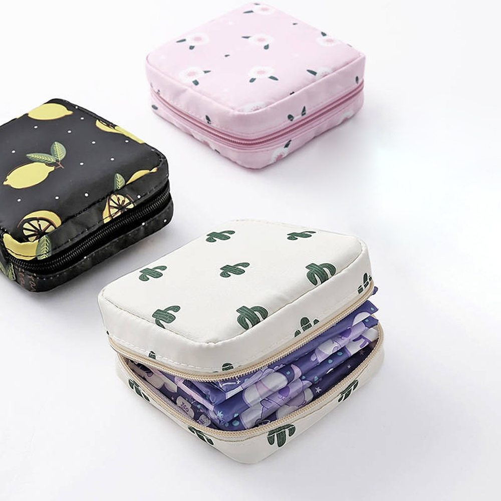 Tampon Storage Bag Sanitary Pad Pouch Women Napkin Makeup Bag Girls Coin Purse Jewelry Organizer Credit Card Pouch