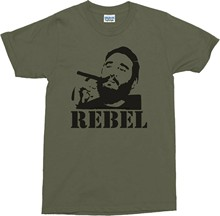 Camiseta fidel castro-cuba rebelvariouwbr s colour t shirt