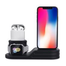 3in1 Зарядное устройство для наручных часов Apple watch 4 3 5 2 стенд наручных часов iWatch, ремешок 42 мм, 38 мм, Версия 44 мм 40 мм airpods iPhone X/8/7/6 Беспроводная зарядная станция