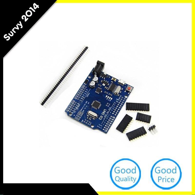 One Set Cool Version UNO R3 CH340G MEGA328P For Arduino UNO R3 ATMEGA328P AU Compatible CH340 Micro USB DIY Kit diy electronics
