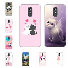 For LG Q Stylo 4 Stylus Case Soft TPU Silicone Cover Cute Cat Patterned Plus Coque