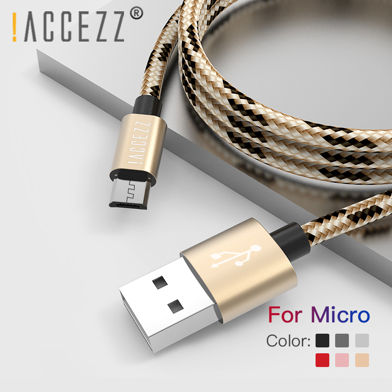 !ACCEZZ Nylon USB Charging Sync Cable Micro For Samsung Galaxy S7 S6 For Huawei For Xiaomi Redmi Android Phone Fast Charger Cord|Mobile Phone Cables|   - AliExpress