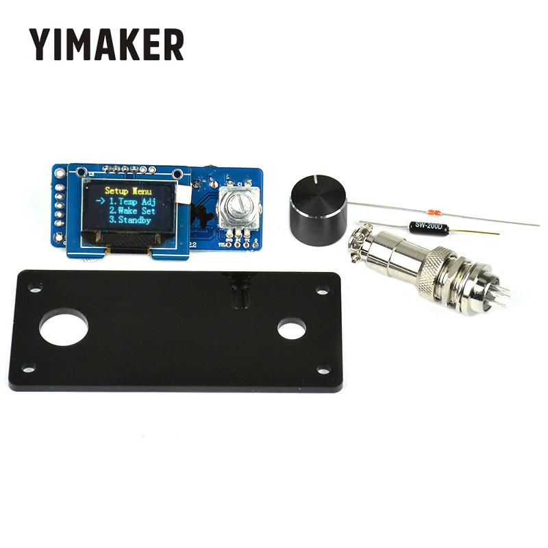 YIMAKER T12 OLED Digital Soldering Iron Station Temperature Controller STC English Display Board With Acrylic Board