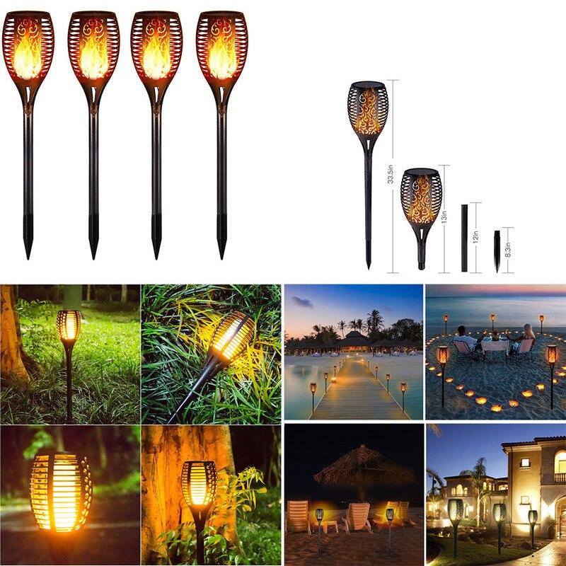 51/72/96 LEDs Solar Flame Flickering Garden Lamp Torch Light IP65 Outdoor Spotlights Decoration Led Lamp For Garden Pathways