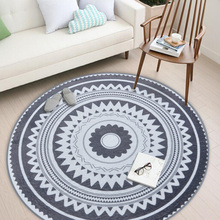 New Nordic Modern Plush Floor Rug Round Area Carpet Living Room Bedroom Home Textile Decor Rugs Geometric Play Game Mats