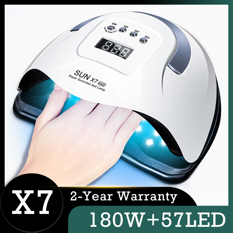 SUN X7 Max Manicure Lamp Auto 180W 57LED UV Lamp Powerful Quick Dry Nail Lamp Professional Nail Gel Dryer Lamp