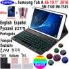 Funda con teclado Bluetooth retroiluminado para Samsung Galaxy Tab A A6 10,1 2016, T580 T585 SM-T580, SM-T585, 7 colores