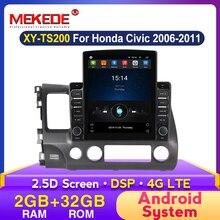 MEKEDE BT DSP Android Autoradio multimédia lecteur vidéo pour Honda Civic 2006 2007 2008-2011 2din Autoradio lecteur