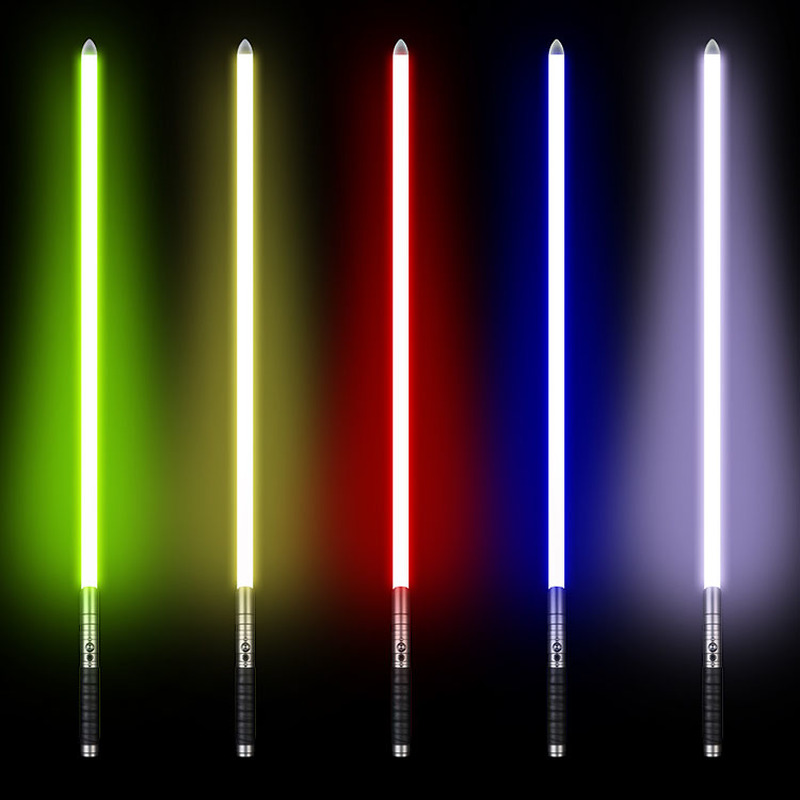 100cm RGB Lightsaber Jedi Sith Star Light Saber 11 Color Lightsaber Metal Sword Light Laser Cosplay Boy Gril Luminous Toy Saber