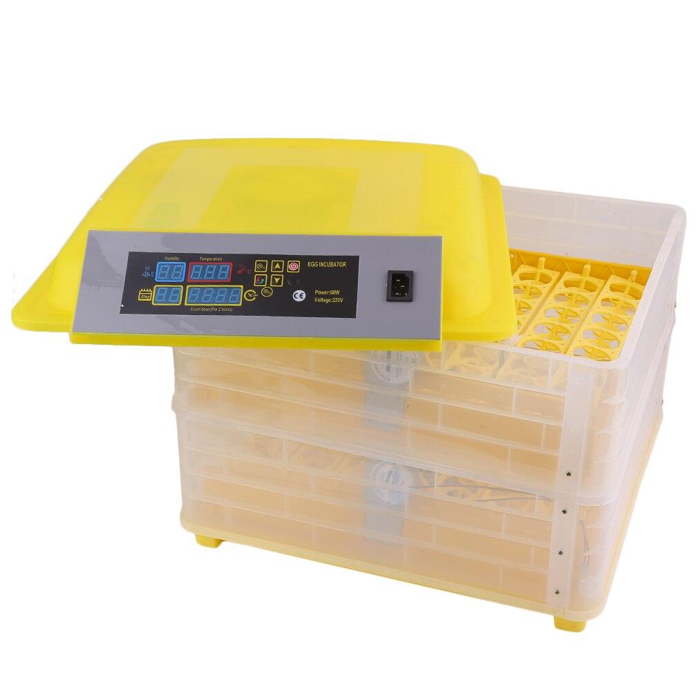 Профессиональная автоматическая курица 96 инкубатор для яиц утка яйцо птицы оборудование для инкубаторов контроль температуры инкубаторов инкубаторная машина Великобритания вилка - 3