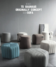 2019 New coming Nordic Style originally concept Hexagon sofa Linen Fabric Ottoman bench size 45x45x30cm stool sofa set living room furniture hot sale 47 2 contemporary modern button tufted fabric bench stool ottoman living room chair made in china