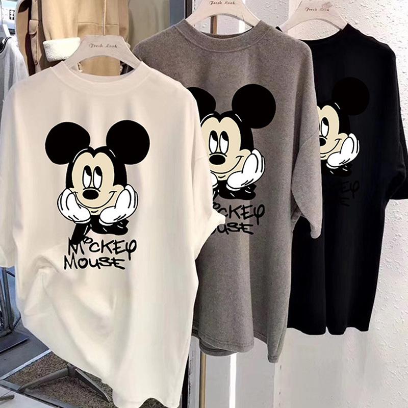 Disney cartoon Mickey Tshirt Tops Summer casual oversized Women T shirts Ulzzang hip hop Streetwear Harajuku short sleeve tshirt
