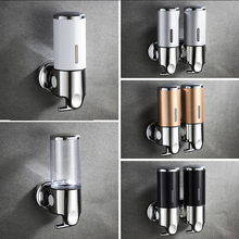 цена на Manual Foam Soap Dispenser Toilet Washing Phone Bottle Pressing Bathroom Soap Dispenser Wall Mount Shampoo Hotel Shower Gel Box