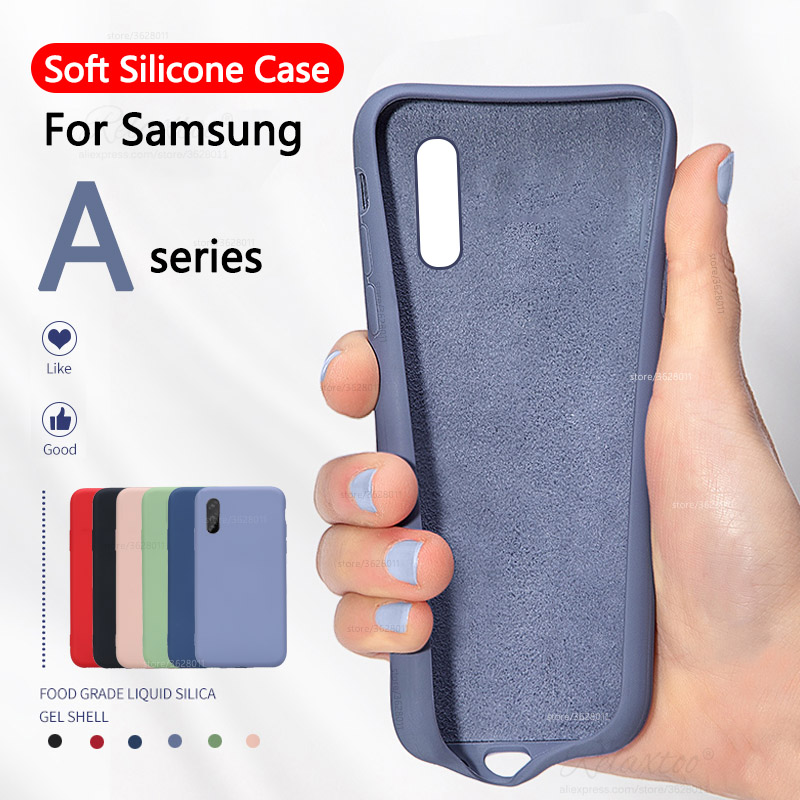 soft Liquid <font><b>Silicone</b></font> <font><b>Case</b></font> for <font><b>Samsung</b></font> Galaxy A10 A20 A20e A30 A40 A50 A60 <font><b>A70</b></font> phone <font><b>case</b></font> samsun A 10 20 30 40 50 60 Cover couqe image