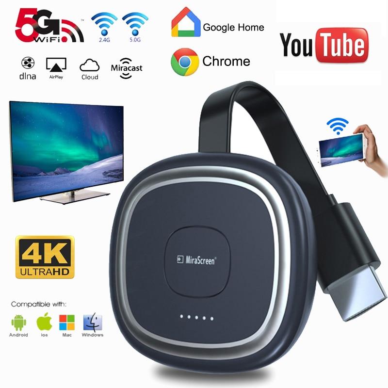 G20 TV Stick 5G Video 4K Full HD WiFi Display Dongle HDMI Media Video Streamer TV Dongle Empfänger für Google Home chrome