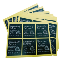 60pcs/pack Black Hand-painted Cake Espercially For You Scrapbooking Decorative Sealing Sticker