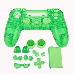 Image 3 - Jcd ps4 controlador personalizado limpar completo habitação gamepad caso botões capa kit substituição para sony playstation 4 v1