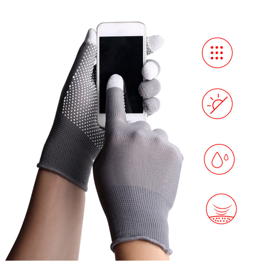 UNWE Breathable Anti Skid Gel Touch Screen Gloves for Summer Suitable for Bike Riding and Driving Enables to Use Phone Without Exposing Hands 1