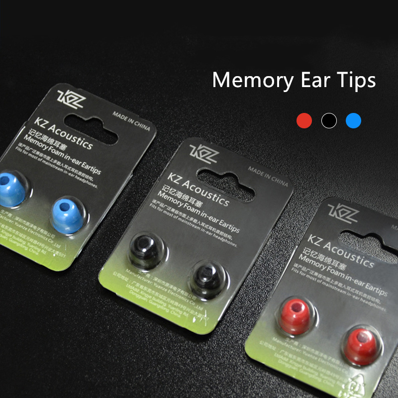KZ 1 Pair Ear Pads Earphone Sillicone Ear Plugs Memory Foam Ear Tips Noise Cancellation Cover ZST ZSX E10 T1 S1 ZS10 PRO