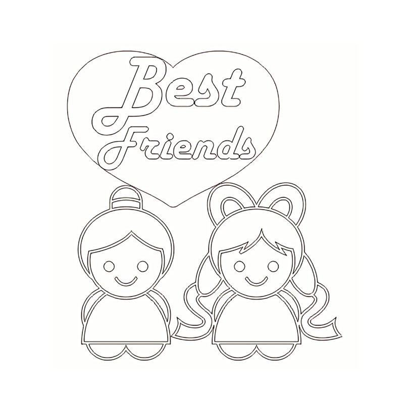 Naifumodo Best Friends Metal Cutting Dies New 2019 for Card Making Scrapbooking Embossing Cuts Stencil Craft Background Dies