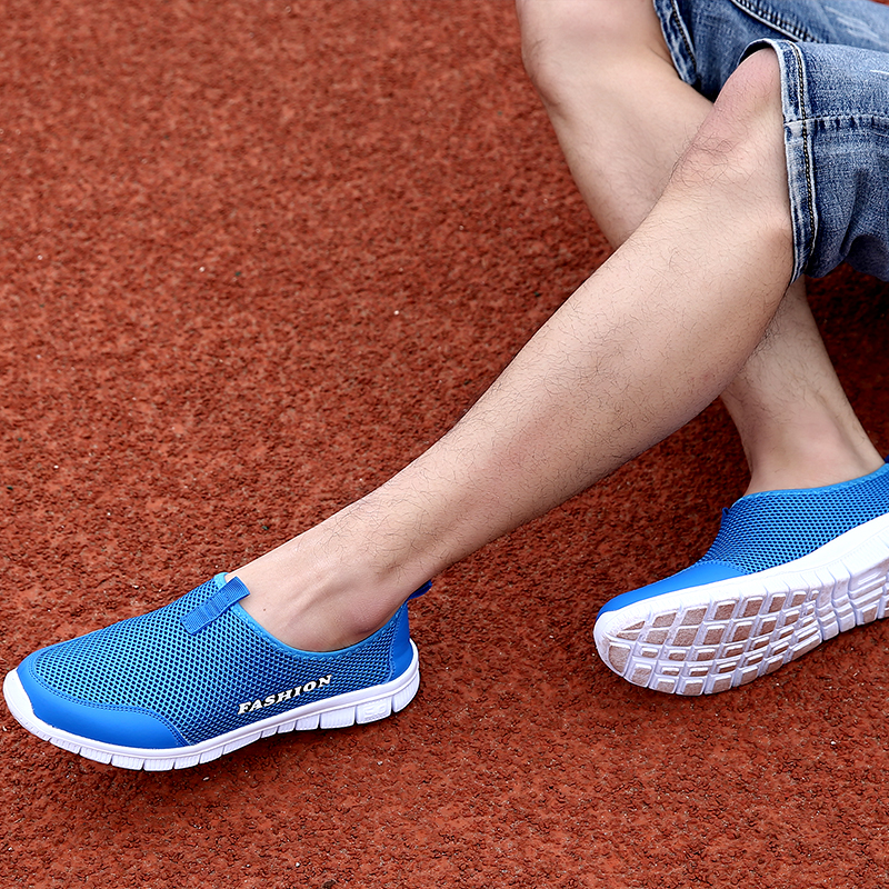 DM61 2020 NEW Plus Size 35-46 Sneakers Men's Summer Shoe Comfortable Men Casual Shoe Mesh Breathable Loafers Flats Shoe Footwear