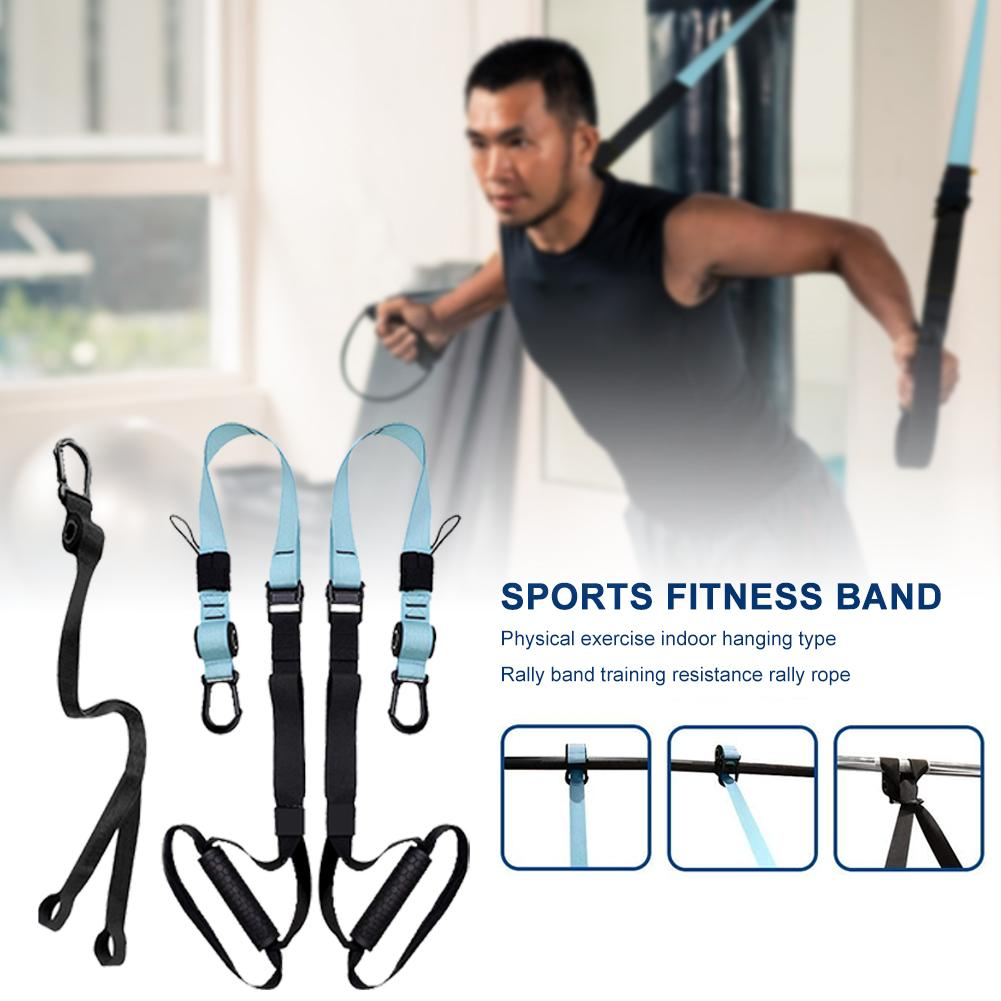 Training Resistance Band Set Bodyweight Suspension Exercise Straps Fitness Equipment For Home Gym Resistance Bands Fitness