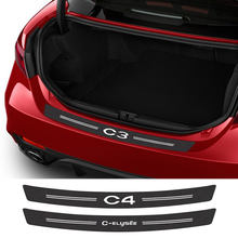 Calcomanías de fibra de carbono para maletero de coche, accesorios para Citroen C4 CACTUS Picasso Aircross C5 C3 C-ELYSEE C1 C2 C4L C6 C8 VTS