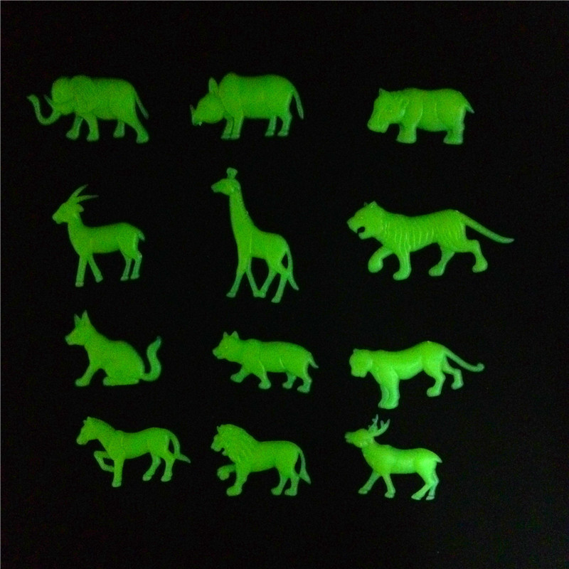 Fluorescent Animals Dolphins Stickers Baby Kids Toy Children Kindergarten Luminous Sticker Decor For Kid Glow In The Dark Toys